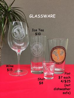 glassware with labels