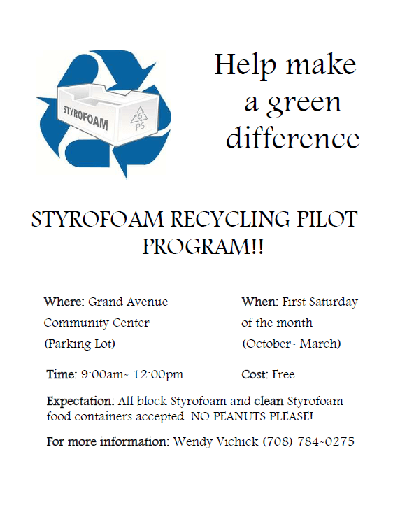 2017 Styrofoam Pilot Program Flyer