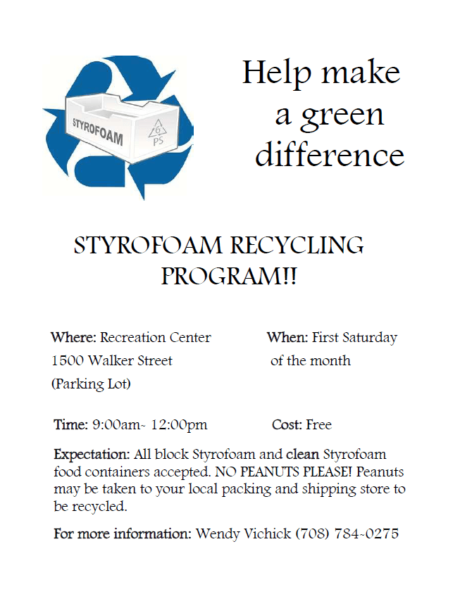 Styrofoam Recycling Program