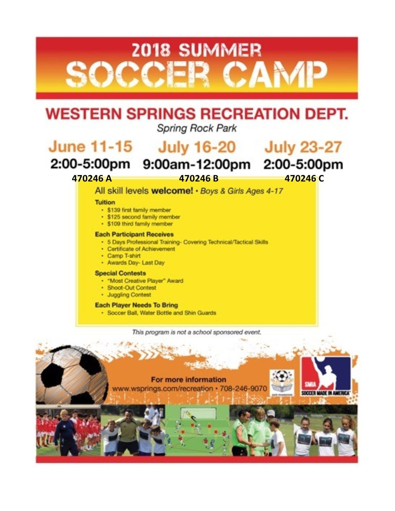 2018 SOCCER TRAINING CAMP